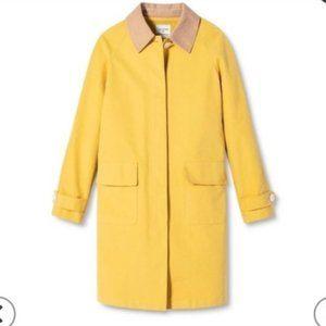 Isaac Mizrahi Yellow Trench Coat Medium NEW no Tag